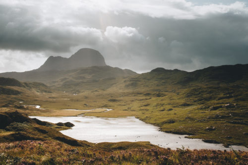 Suilven Falls of Kirkaig Scotland
