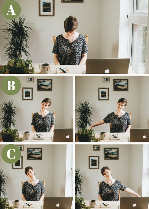 5-10min Desk Yoga for Photographers - Yoga for the Neck