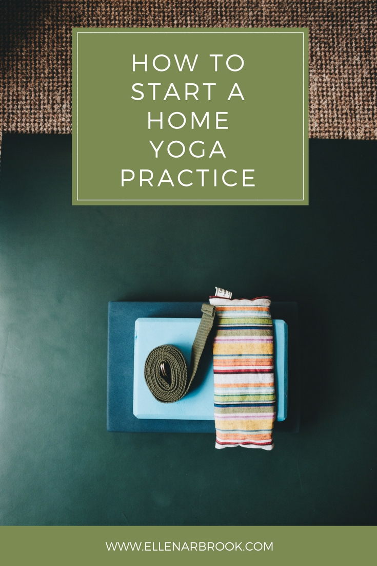 How to start a home yoga practice and 3 things to help you do it. Plus, a downloadable sequence to get started!