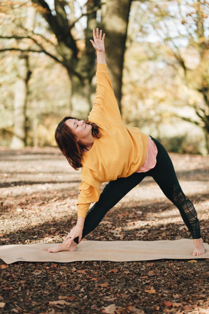 Yoga photoshoot in London